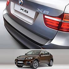 Пластиковая защитная накладка на задний бампер для BMW Х6 E71 2012-2014