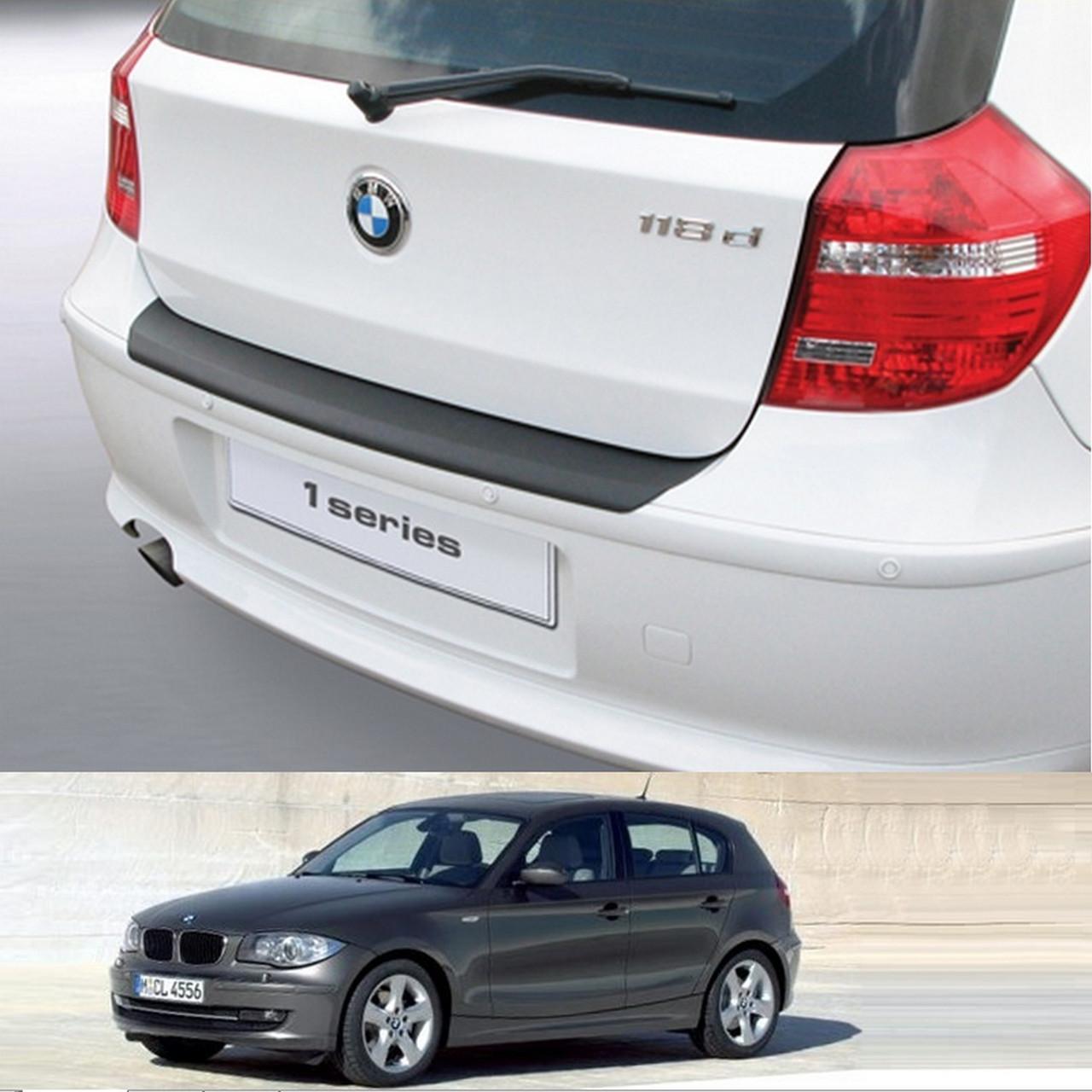 Пластиковая защитная накладка на задний бампер для BMW 1-series E87 3/5dr 2007-2011