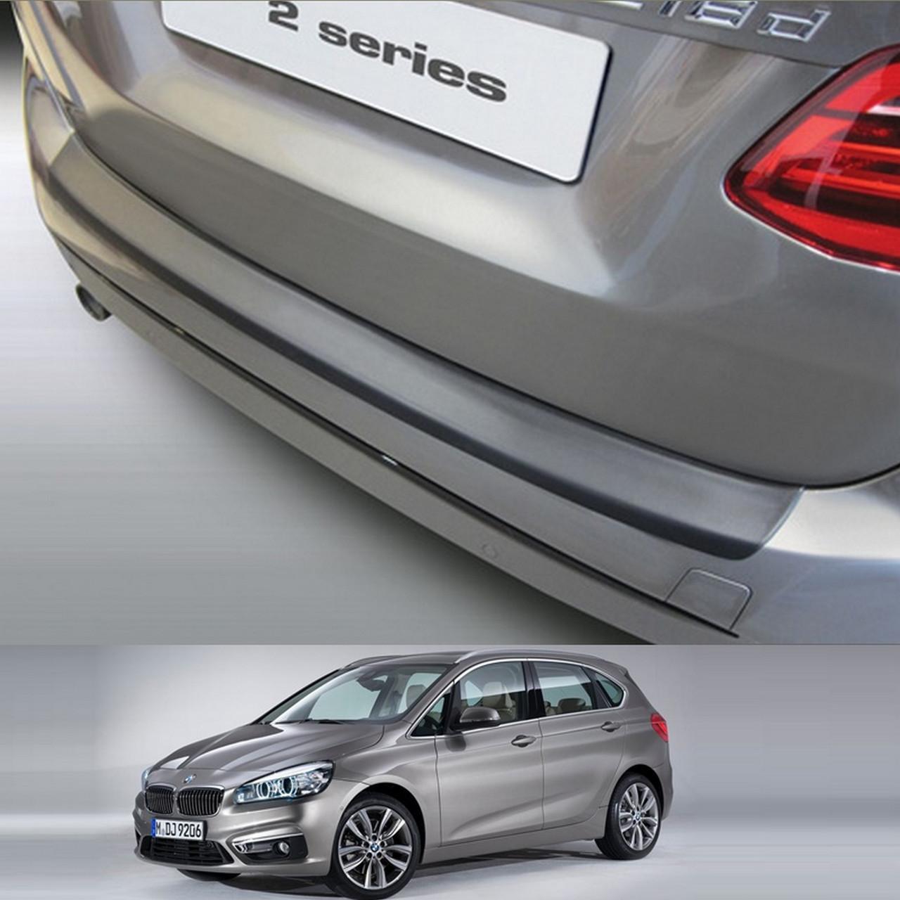Пластиковая защитная накладка на задний бампер для BMW 2-series F45 Active Tourer 2014+ oem # 51472412724