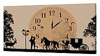 Настенные часы ProfART на холсте 30 x 53 см Карета (09_S)