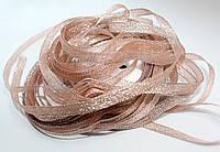 Лента люрекс(парча). Цвет - бледно-розовый. Ширина - 0,7 см, длина 23 м, нетоварный вид