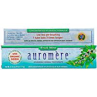 Auromere, Аюрведическая зубная паста на травах, свежая мята, 117 г (4,16 унции), официальный сайт
