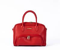 Сумочка-саквояж-портфель жіноча Лакшері для стильної леді в 4-х кольорах. Червоний.