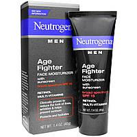 Neutrogena, Увлажняющий антивозрастной крем для мужчин + солнцезащитным кремом, SPF 15, 1,4 унции 40 г, официальный сайт