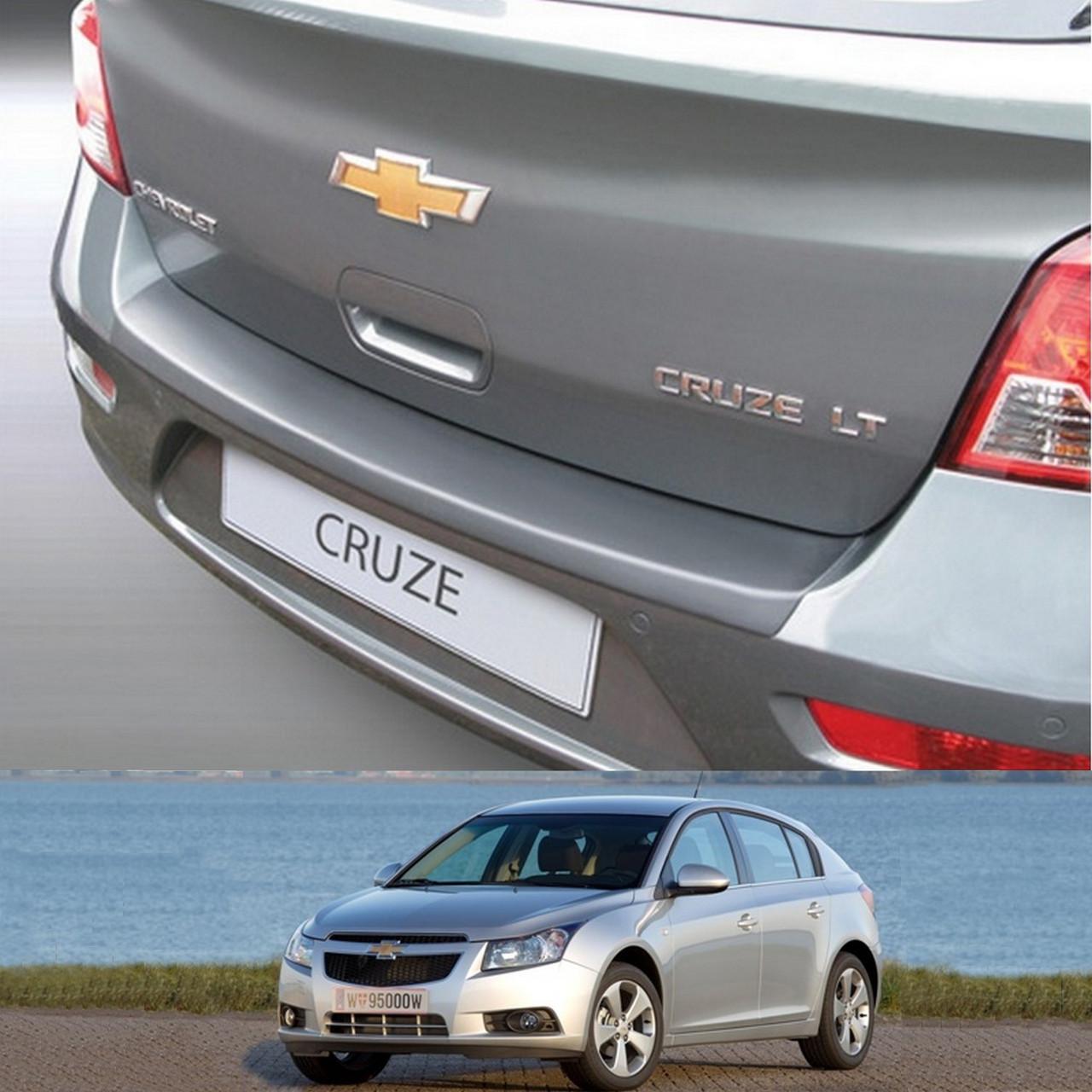 Пластиковая защитная накладка на задний бампер для Chevrolet Cruze 5dr 2011-2016
