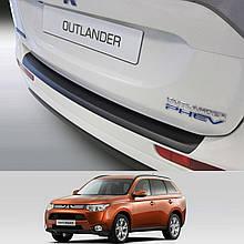 Mitsubishi Outlander 2012-2015 пластикова накладка заднього бампера