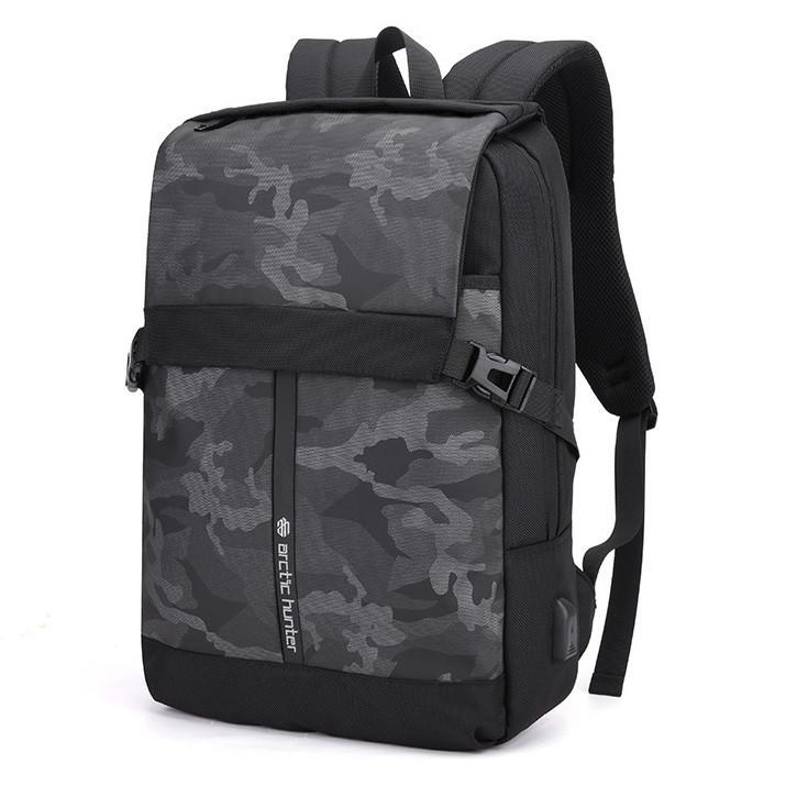 """Городской рюкзак-мешок Arctic Hunter B00352 с USB портом, RFID защитой и карманом для ноутбука до 17"""", 22л"""