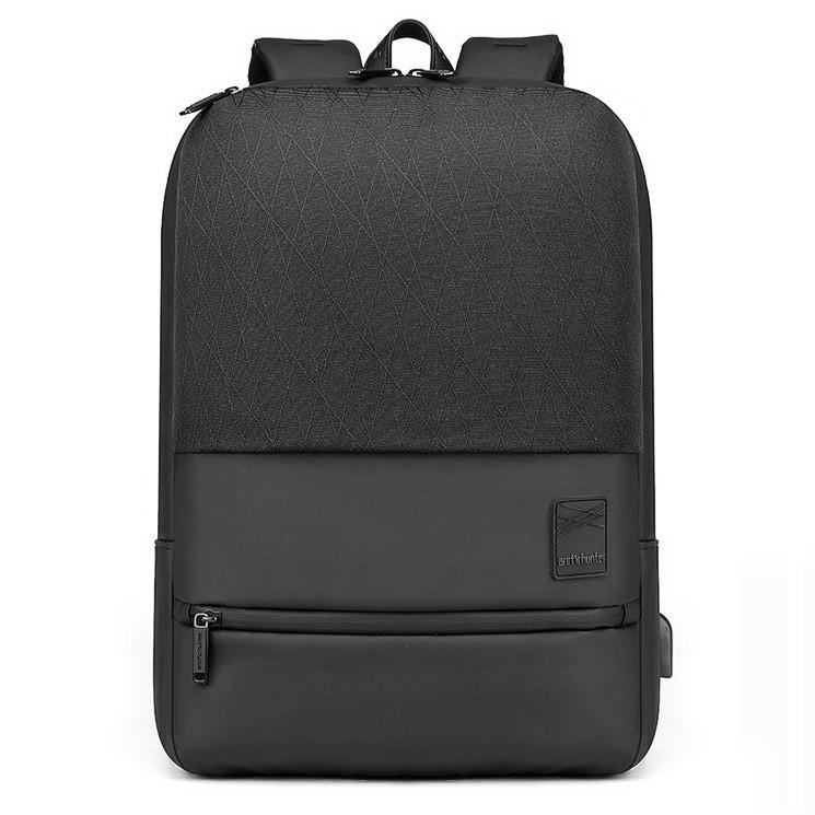 Современный тонкий рюкзак Arctic Hunter B00360, с USB портом, карманом для ноутбука, RFID защитой, 22л