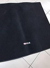 Ворсовый коврик в багажник KIA Sportage III с 2010 г.  (Черный)
