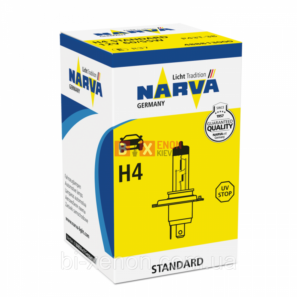 Галогенная лампа NARVA H4 Standard 48881