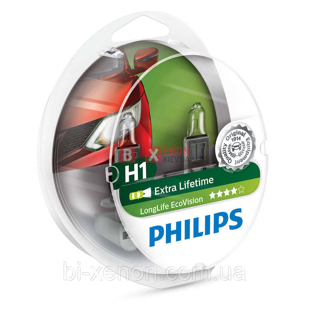 Галогенная лампа PHILIPS H1 Eco Vision 12258ECOS2