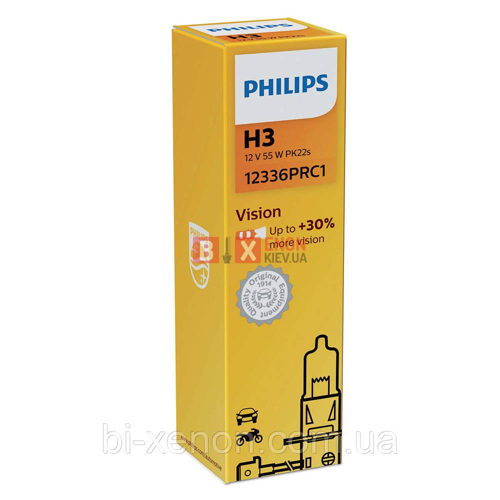 Галогенная лампа PHILIPS H3 Vision +30% 12336PRC1
