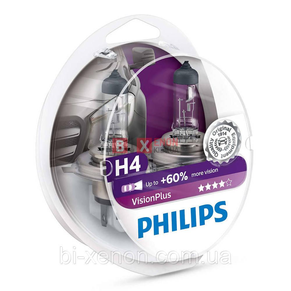 Галогенная лампа PHILIPS H4 Vision +60% 12342VPS2