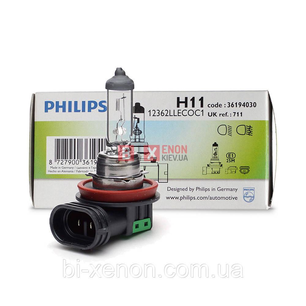 Галогенная лампа PHILIPS H11 Long Life 12362LLECOC1