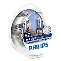 Галогенная лампа PHILIPS H7 Crystal Vision +2x W5W 12972CVSP