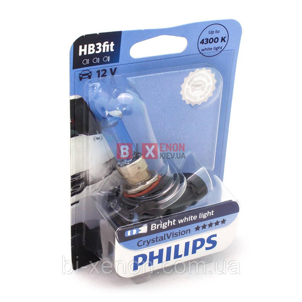 Галогенная лампа PHILIPS HB3 Crystal Vision 9005CVB1