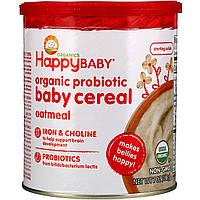 Happy Family Organics, Органическая каша с пробиотиками для детей, овсяная, 198г