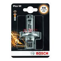 Галогенная лампа BOSCH H4 Plus 50% 60/55W 12V 1 987 301 040 Blister