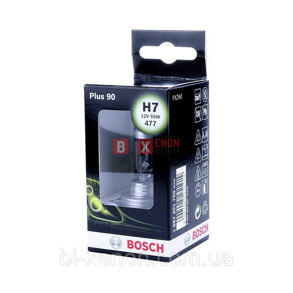 Галогенная лампа BOSCH Н7 Plus 90% 55W 12V 1 987 301 750 Box