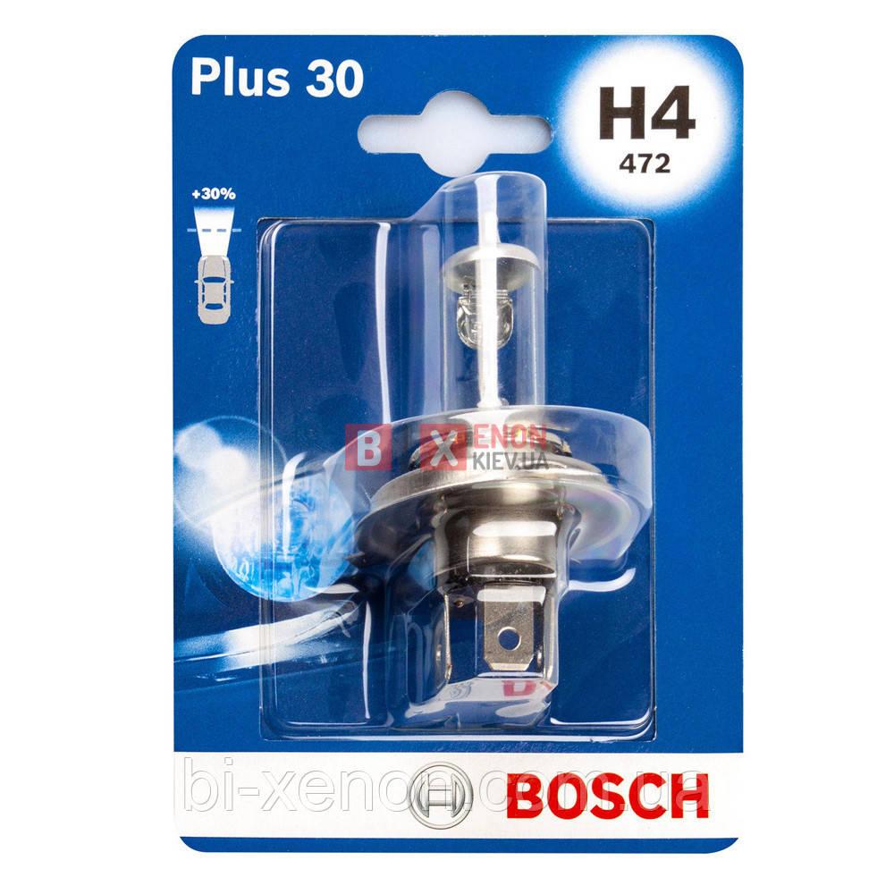Галогенная лампа BOSCH H4 Pure Light 60/55W 12V 1 987 301 001 Blister