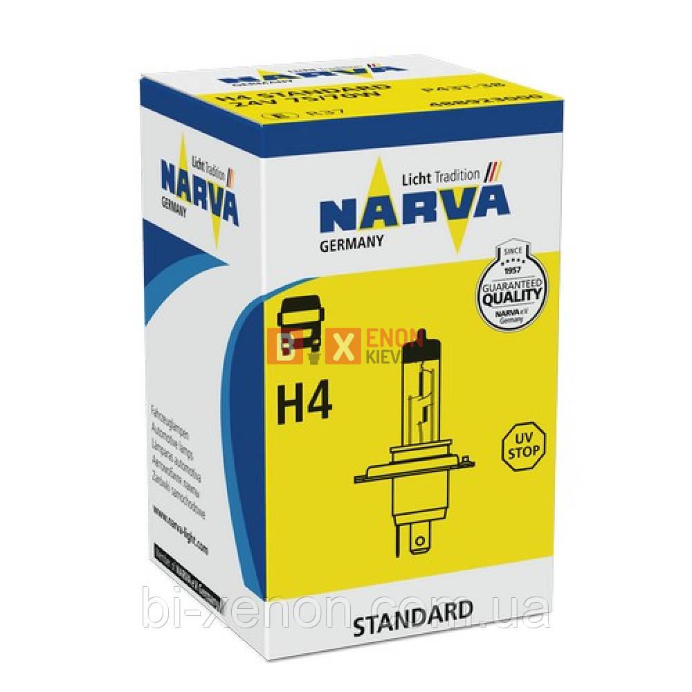 Галогенная лампа Narva H4 24V 75/70W 48892