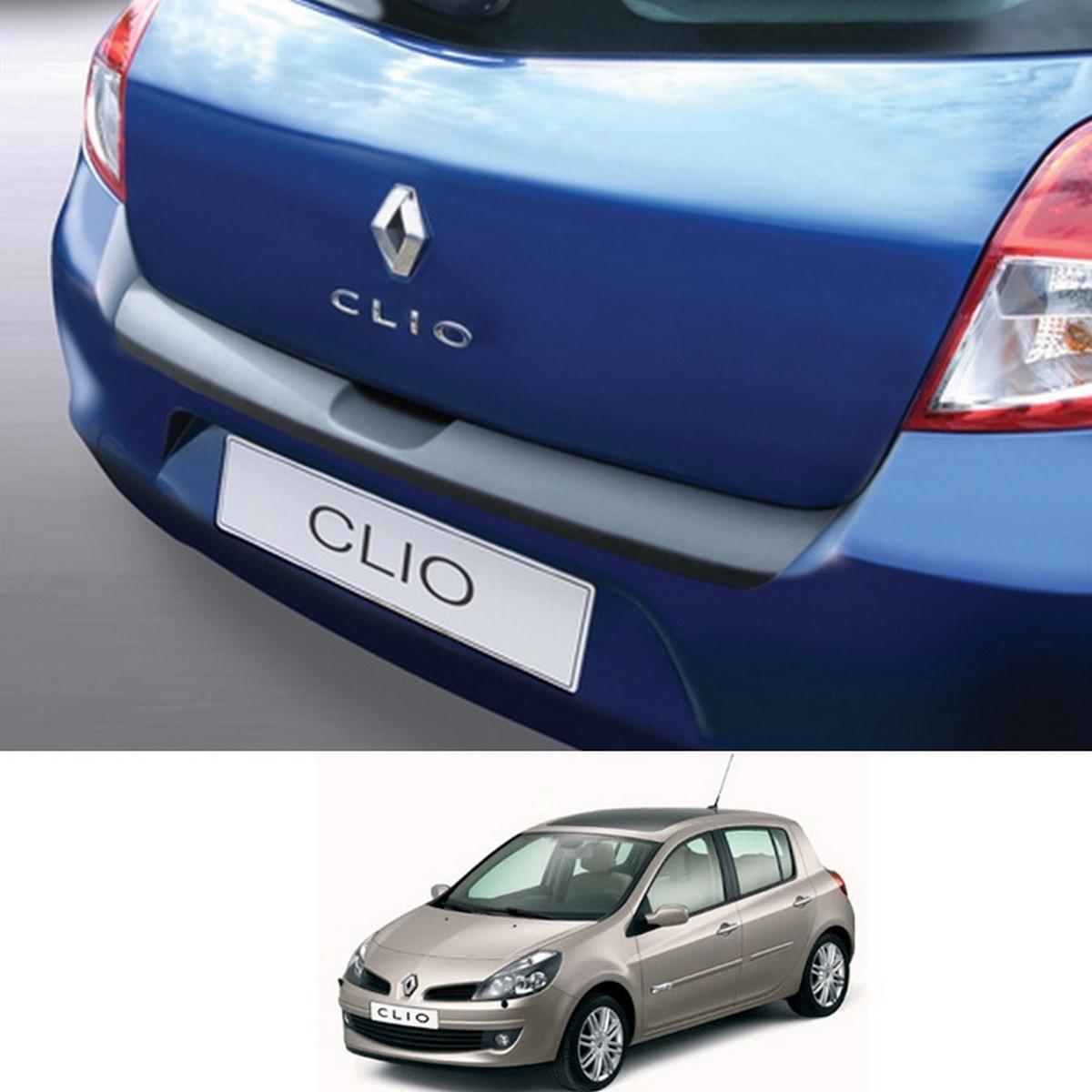 Пластикова захисна накладка на задній бампер для Renault Clio III 3/5 door 2009-2014