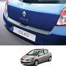 Пластиковая защитная накладка на задний бампер для Renault Clio III 3/5 door 2009-2014