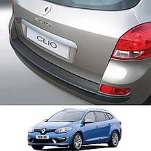 Пластиковая защитная накладка на задний бампер для Renault Clio Sport Tourer III 2009-2014