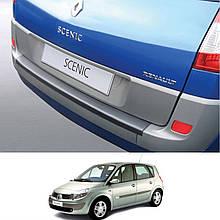 Пластиковая защитная накладка на задний бампер для Renault Scenic II 2003-2009