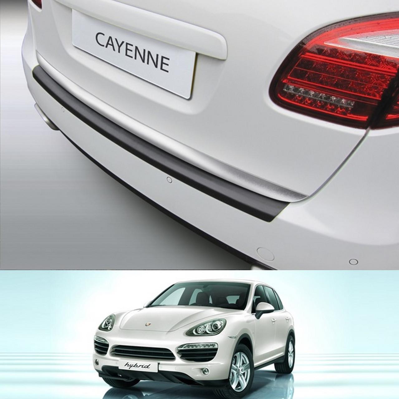 Пластикова захисна накладка на задній бампер для Porsche Cayenne 2010-2014