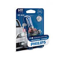 Галогенная лампа Philips H11 White Vision +60% 65W 12V 12362WHVB1 Blister