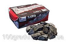 Камень для бани Оливиновый диабаз колотый Sawo - 20 кг