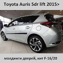 Молдинги на двері для Toyota Auris II lift 2015+