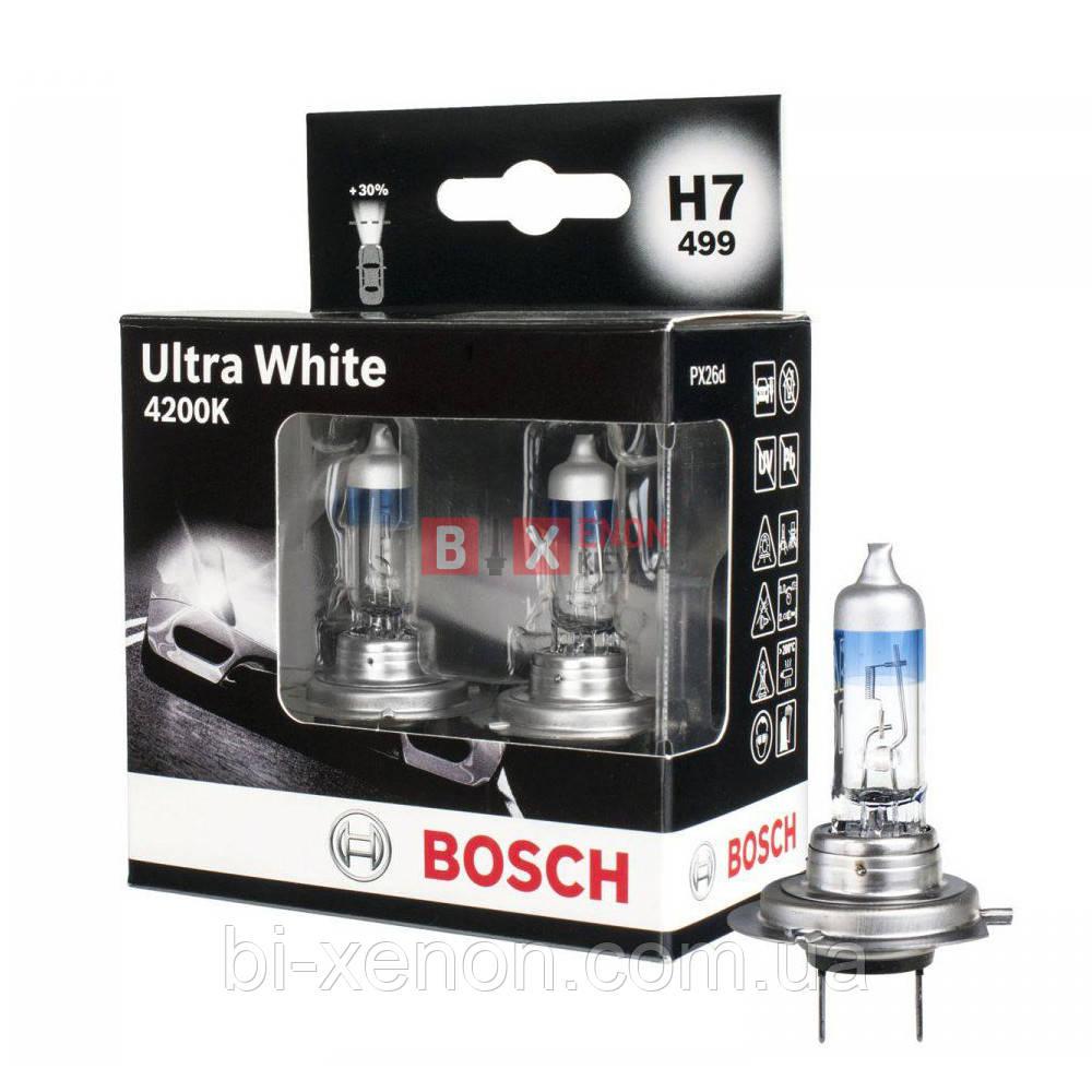 Галогенная лампа BOSCH H7 Ultra White 4200K 55W 12V 1 987 301 182 Комплект