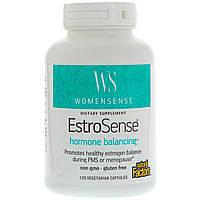 Natural Factors, WomenSense, EstroSense, Средство для поддержания гормонального баланса, 120 вегетарианских капсул, официальный сайт