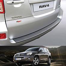 Пластиковая защитная накладка на задний бампер для Toyota RAV-4 lift. 2008-2012 (без запаски)