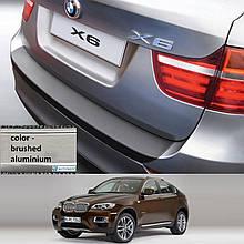Пластикова захисна накладка на задній бампер для BMW X6 E71 2012-2014