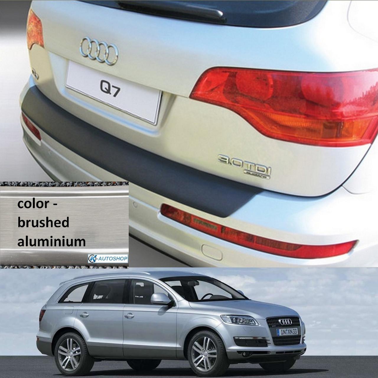 Пластиковая защитная накладка на задний бампер для Audi Q7 2006-2015