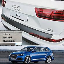 Пластикова захисна накладка на задній бампер для Audi Q7 II 2015+