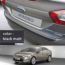 Пластикова захисна накладка на задній бампер для Ford Mondeo Mk4 5Dr LIFT. 2010-2014