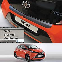 Пластиковая защитная накладка на задний бампер для Toyota Aygo II 3/5dr 2014+