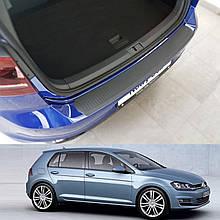 Пластикова накладка заднього бампера для Volkswagen Golf VII 5dr 2012-2020