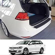 Пластиковая накладка заднего бампера для Volkswagen Golf VII Variant 2013-2017