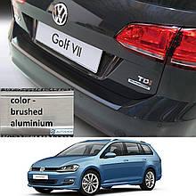 Пластиковая накладка заднего бампера для Volkswagen Golf VII Variant / Alltrack 2013-2017