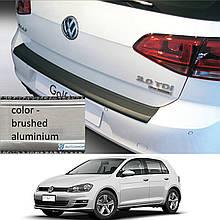 Пластиковая накладка заднего бампера для Volkswagen Golf VII 3/5dr 2012-2020