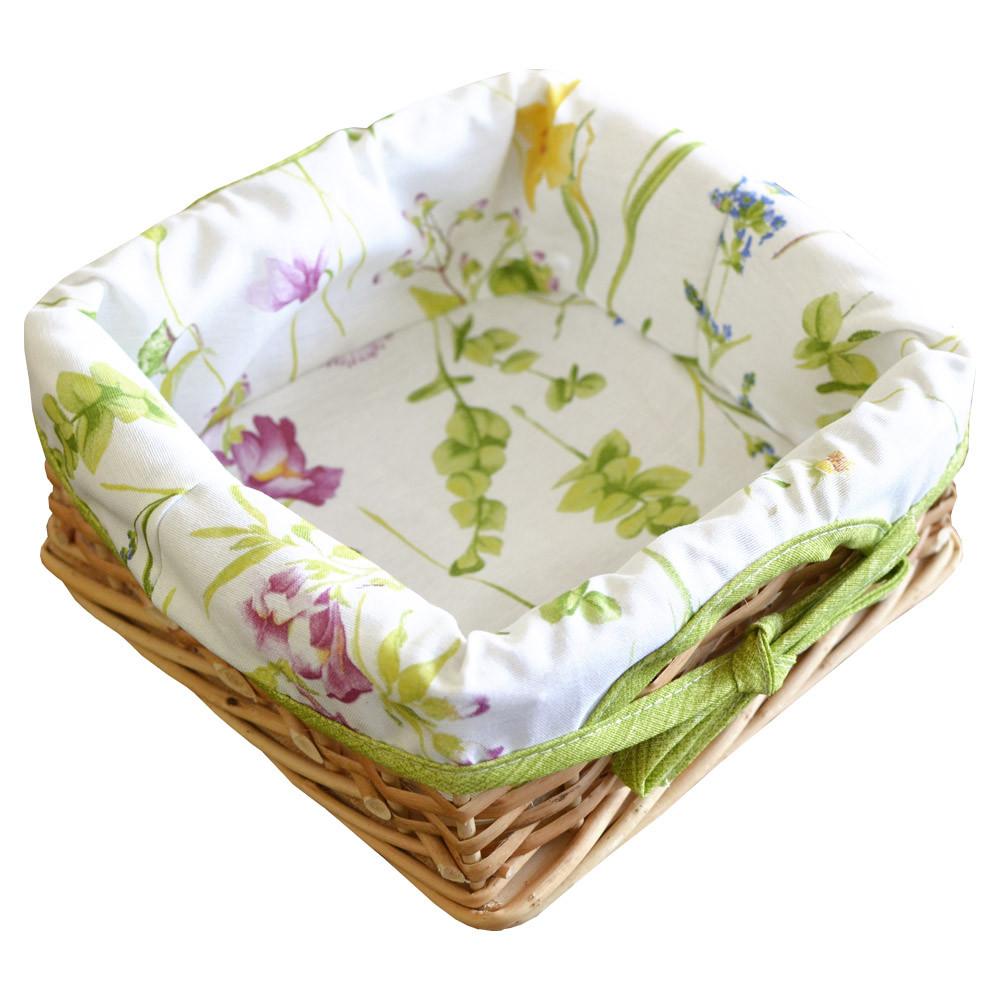Хлебница плетеная Весна с чехлом