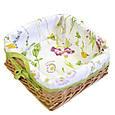 Хлебница плетеная Весна с чехлом, фото 3