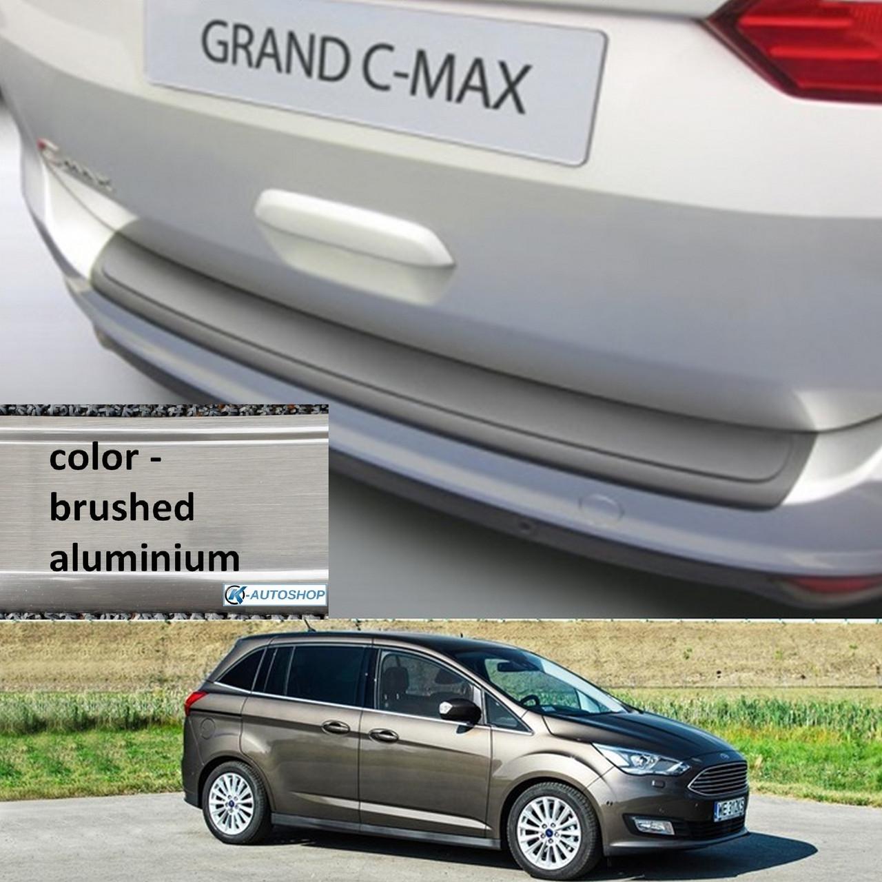 Пластиковая защитная накладка на задний бампер для Ford Grand C-Max Mk2 LIFT 2015-2019