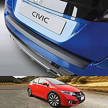 Пластикова захисна накладка на задній бампер для Honda Civic Mk9 5Dr H/B LIFT 2014-2017