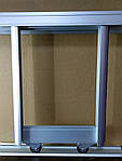 2- двери. Комплект профилей раздвижной системы шкафа купе, серебро 1000, 800